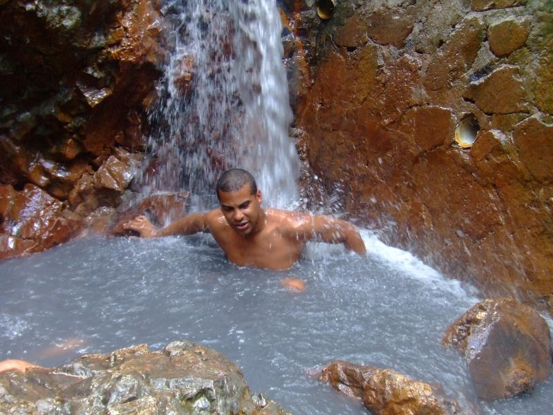 Baño Dowstream del volcán