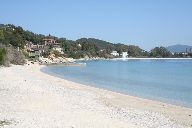 Nikiana sandy beach at 2kms down from the villa