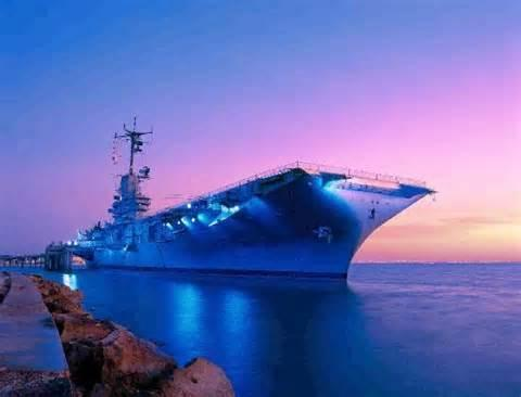 USS Lexington on North Beach