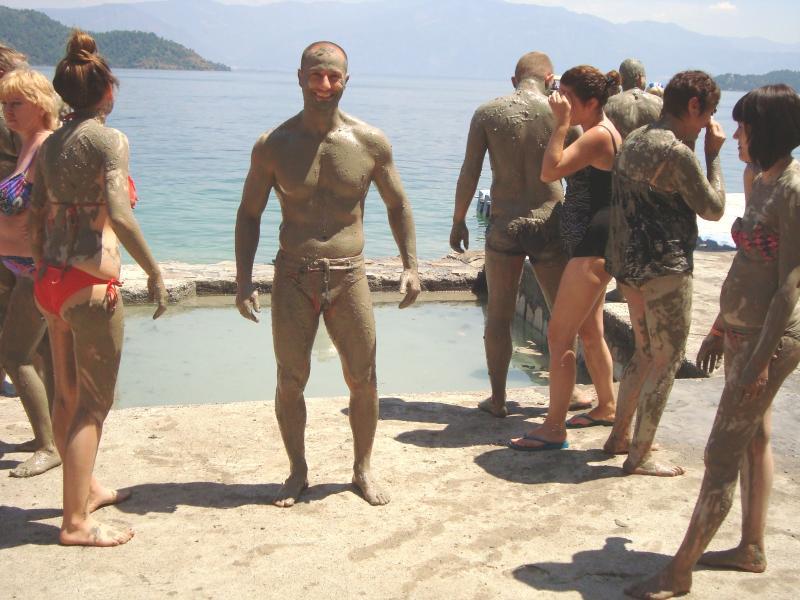 The mud baths at Dalyan.