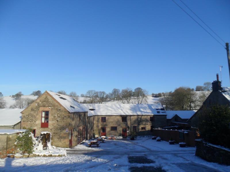 Broadhurst Cottages in the snow