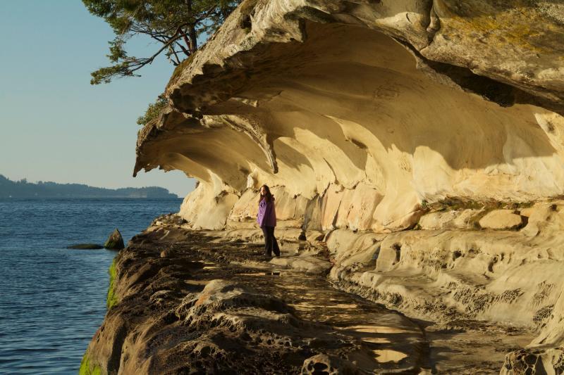 Malaspina gallerie sulla vicina isola di Gabriola, uno dei nostri preferiti gite!