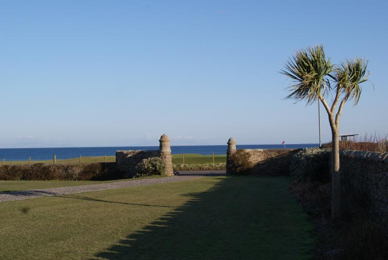 Facing out to sea, Rothmar East overlooks the 18th hole of Machrihanish Golf Course.