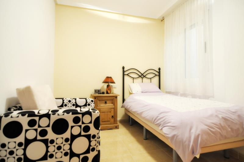3rd Bedroom has ample space for a second bed (Chair-bed shown)