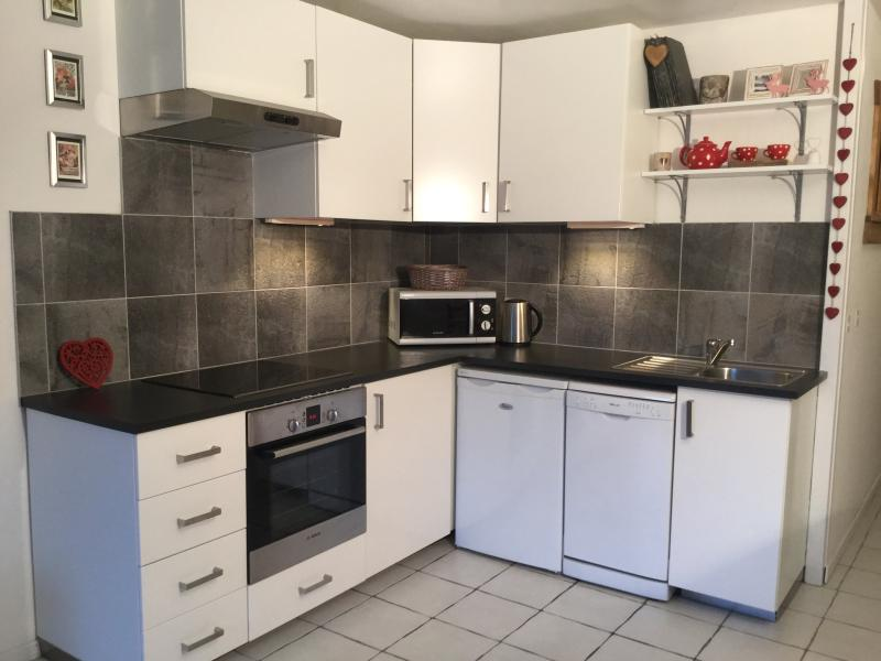 Brand new kitchen, fully equipped with dishwasher, four-ring hob, oven, microwave