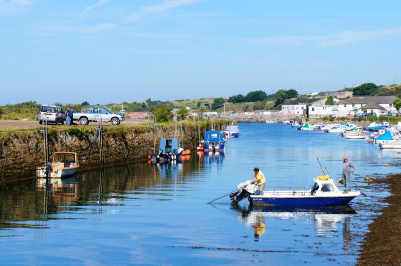 Fishing from Hayle harbour