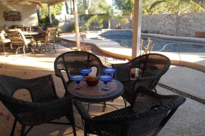 Außen Terrasse w/Sitze für 10