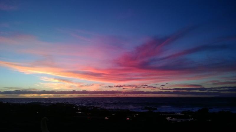 The sunset in the beach 'Playa Inglés' *** La puesta del sol en la playa Inglés
