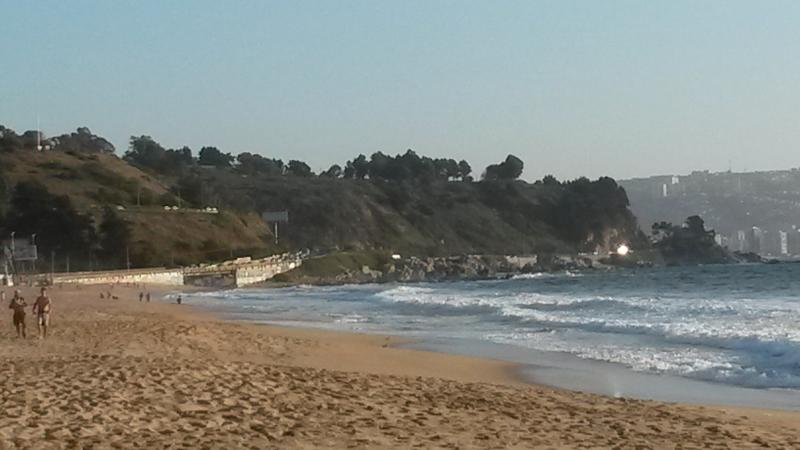 Reñaca beach, south view