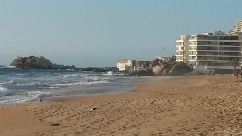 Reñaca beach, north view
