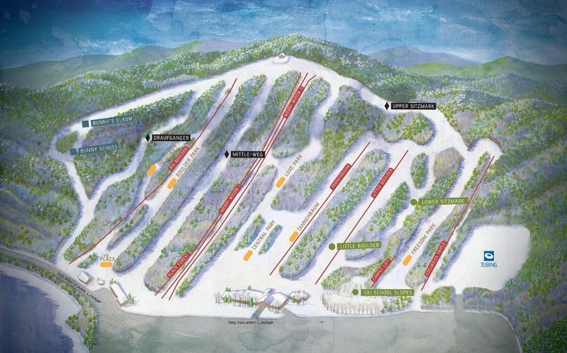 Big Boulder Ski Resort map