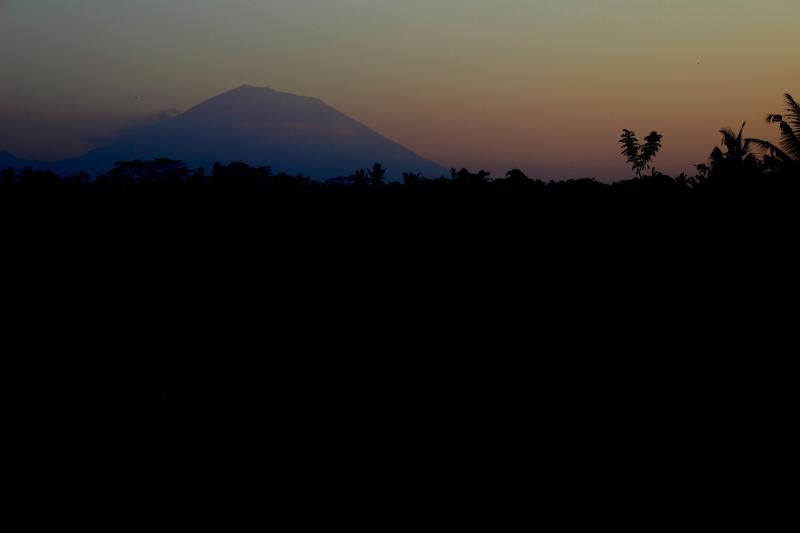 Mount Agung, in the morning view