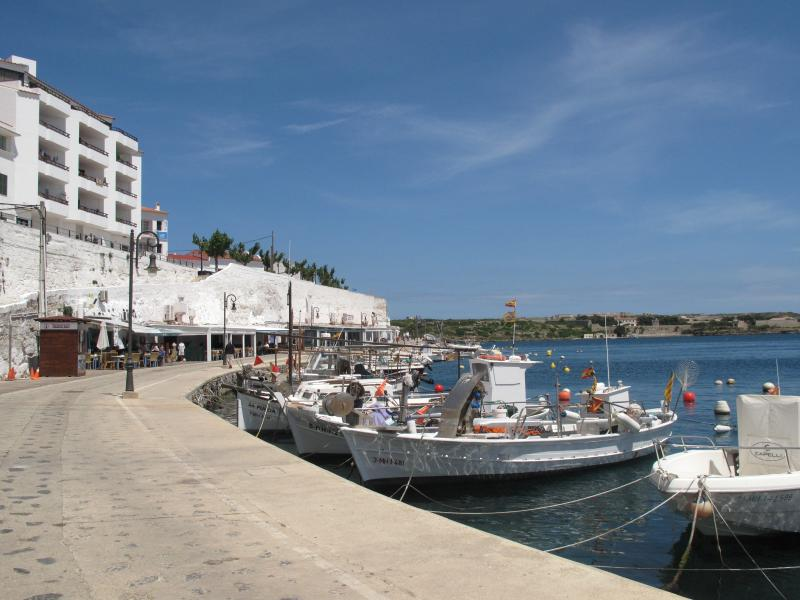 Calas Fonts looking out to Mahon Harbour