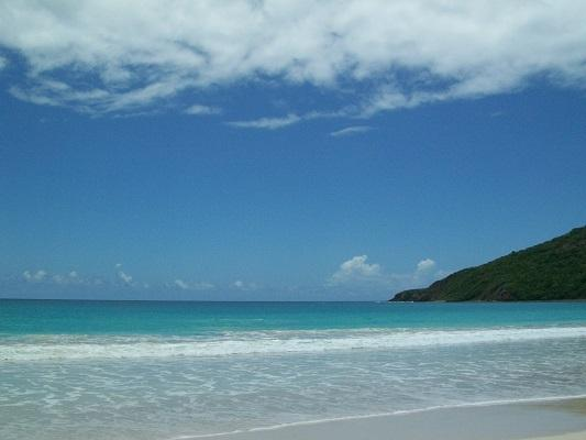 Beautiful Flamenco beach in Culebra island; which is part of PR. Get there in Ferry or Plane.