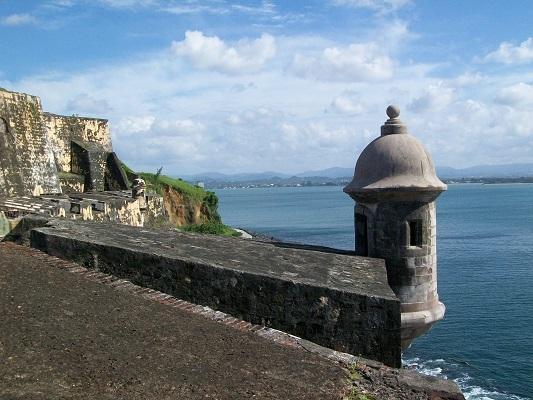 Beautiful view of el Morro Fort at Old San Juan.