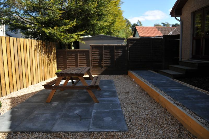 Attractive secluded patio area