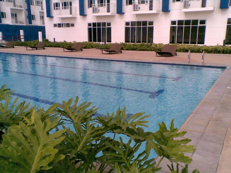 There are 2 swimming pools for adults, 2 kiddie pools