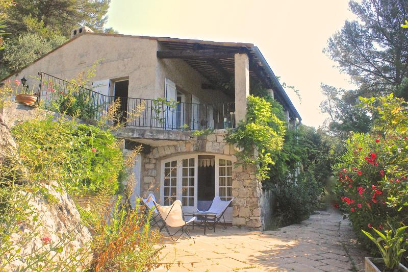 The villa, secluded and cosy