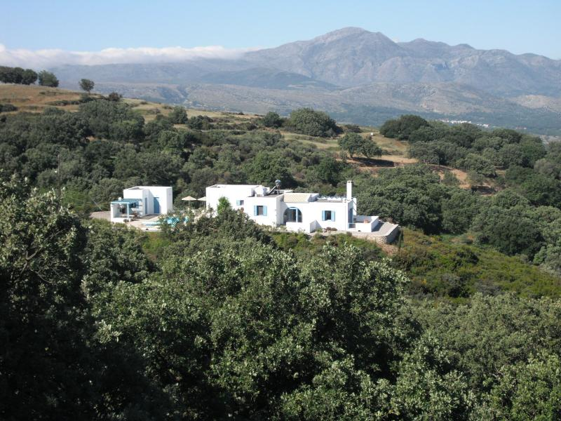 Villa Dris in beautiful countryside with breathtaking panoramic sea and mountain views.