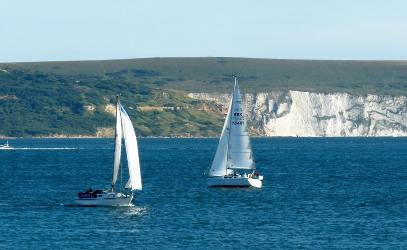 Sailing across the Solent to the Isle of Wight