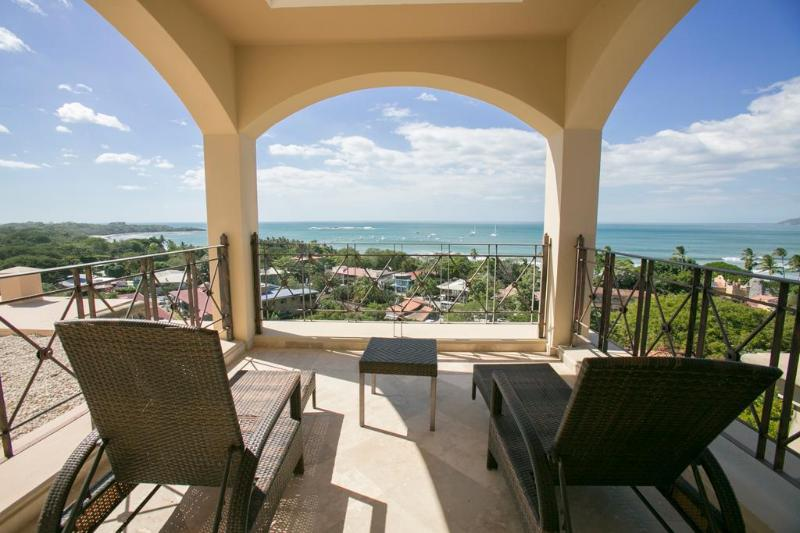 Private balcony off the master bedroom, top level