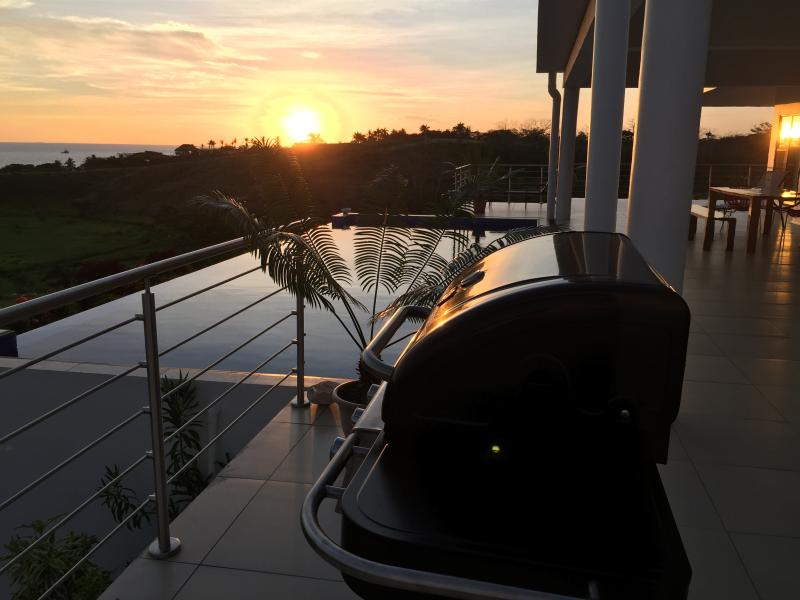 BBQ Grilling at sunset