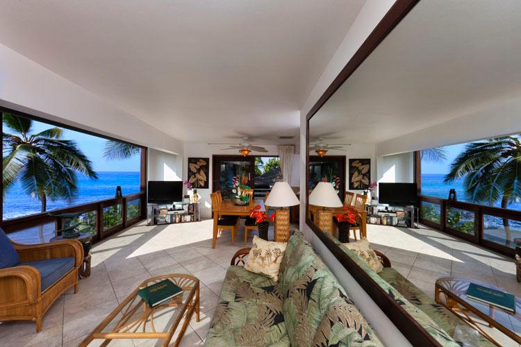 View of Ocean from Living, DIning Room and Kitchen