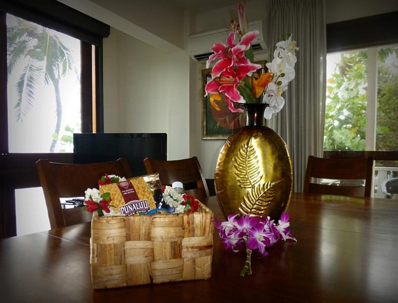 Gift Baskets upon Arrival