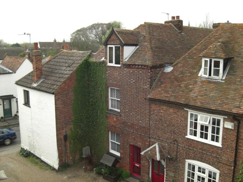 The Square from the roof of Cornerways Cottage,Wingham has many historical buildings