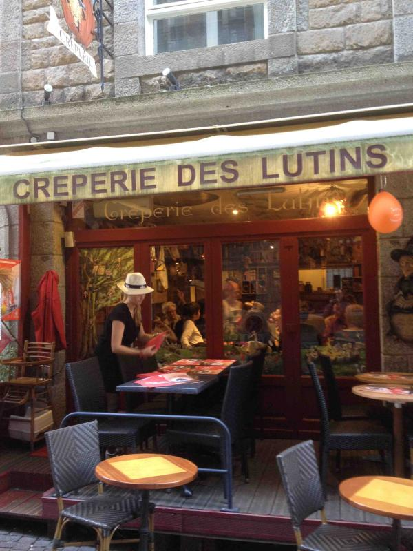 A creperie in St Malo