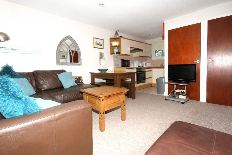 Leading to  fully functioning and equipped kitchen