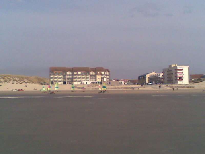 vue de la plage de sable fin