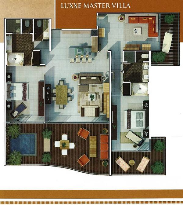 Plattegrond van de grootmeester Luxxe Villa