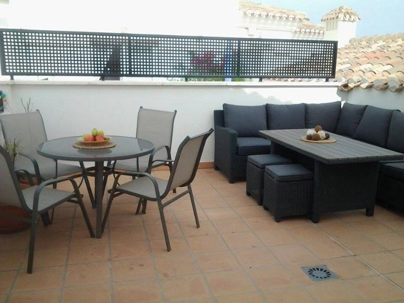 Private sun terrace with luxurious dining area