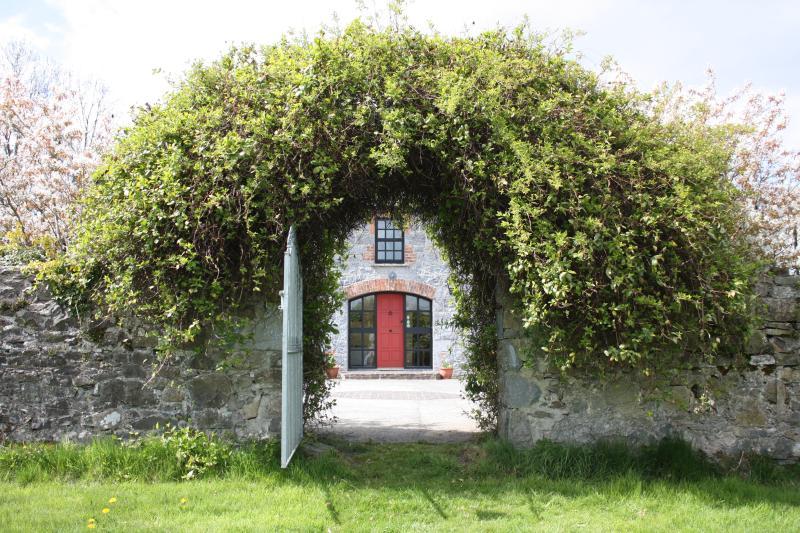 Front door viewed from walled garden