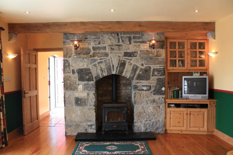 Fireplace with Solid Fuel Stove
