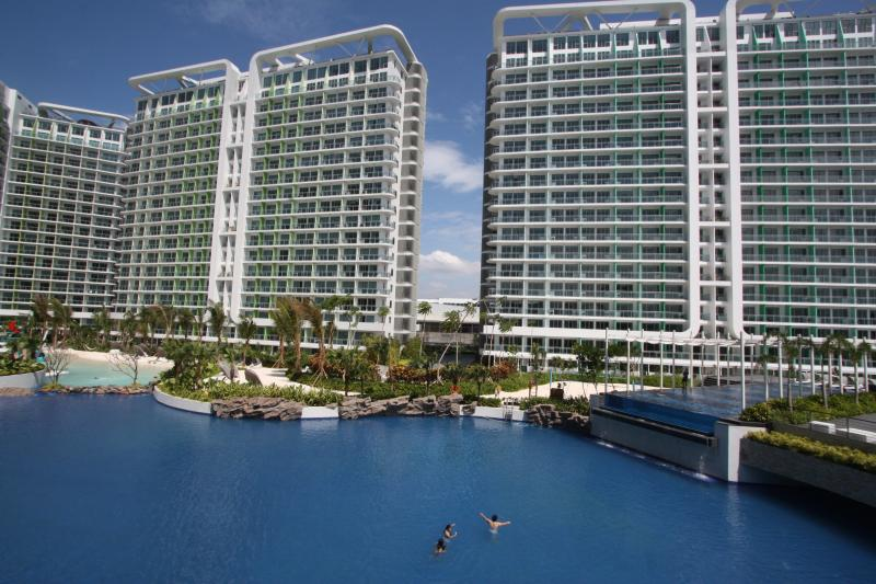 Azure's centerpiece: man-made beach, wave pool and lap pool