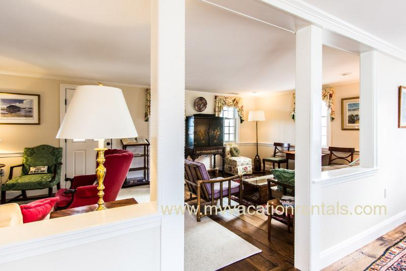 Living Room with Multiple SEating Areas, TV Viewing, Opens to 2nd Level Porch