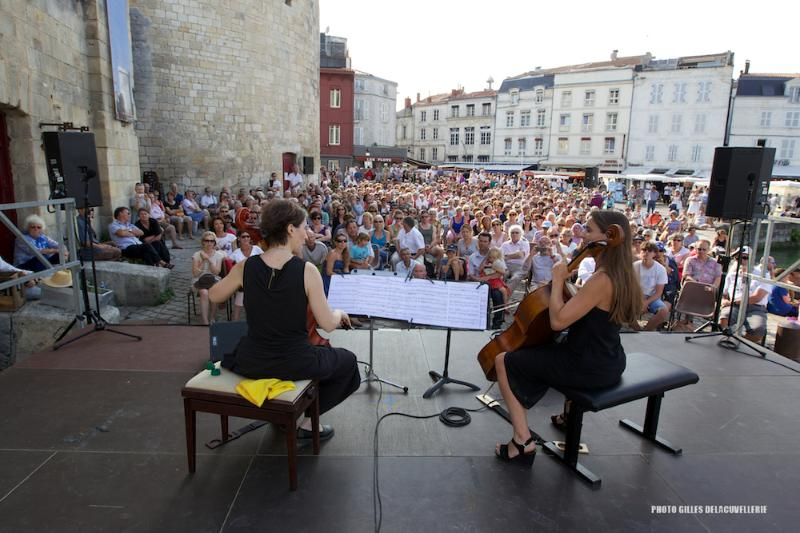 Concert of classical music on the Vieux Port in summer