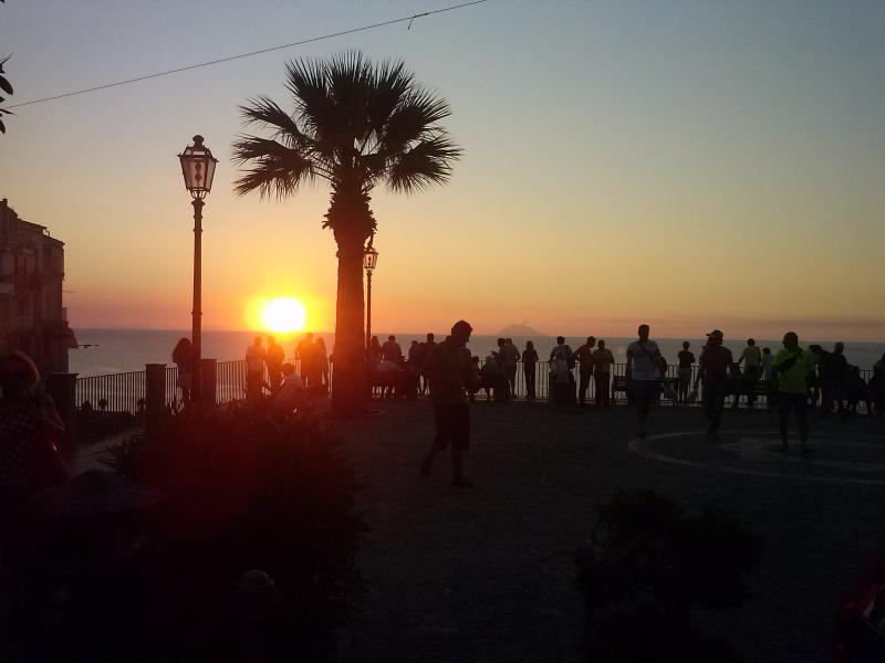 Fantastic sunset from the main terrace of Tropea
