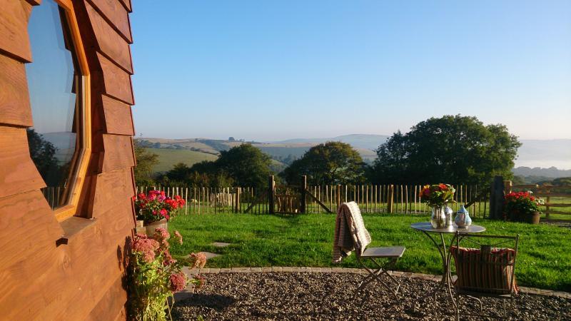 Enjoy beautiful countryside views from Aerona