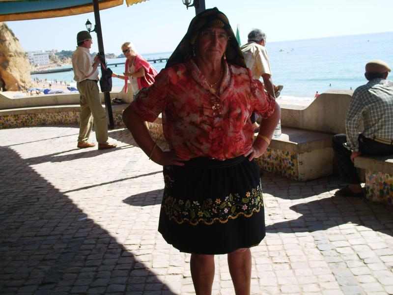 Lady in Portuguese traditional costume