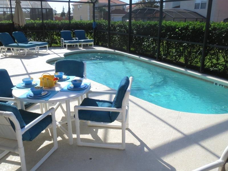 Large Private Pool Deck