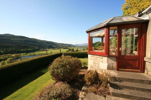 Spectacular views overlooking the river Tay