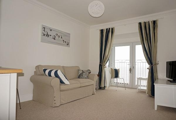 The lounge overlooking Budleigh beach