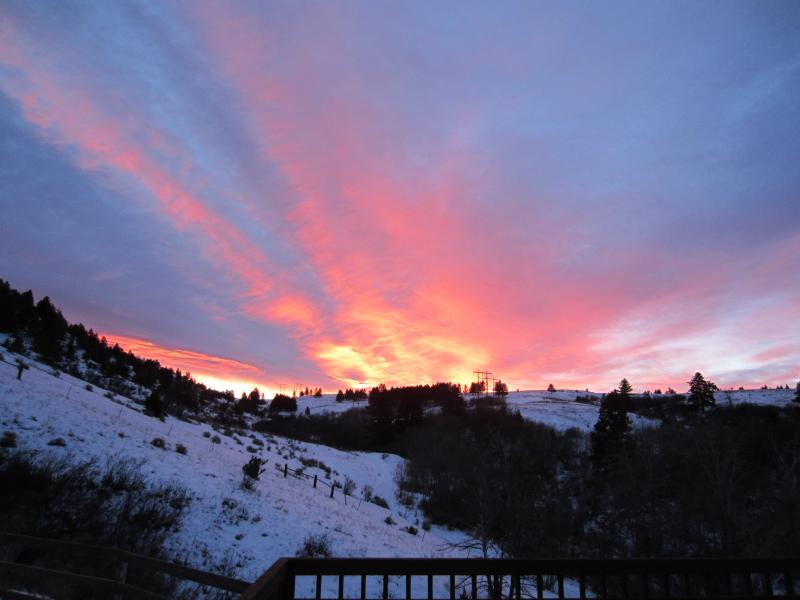 Winter sunrise from the upper deck