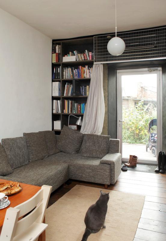 woonkamer met een kat. Foto: Juta Kübarsepp