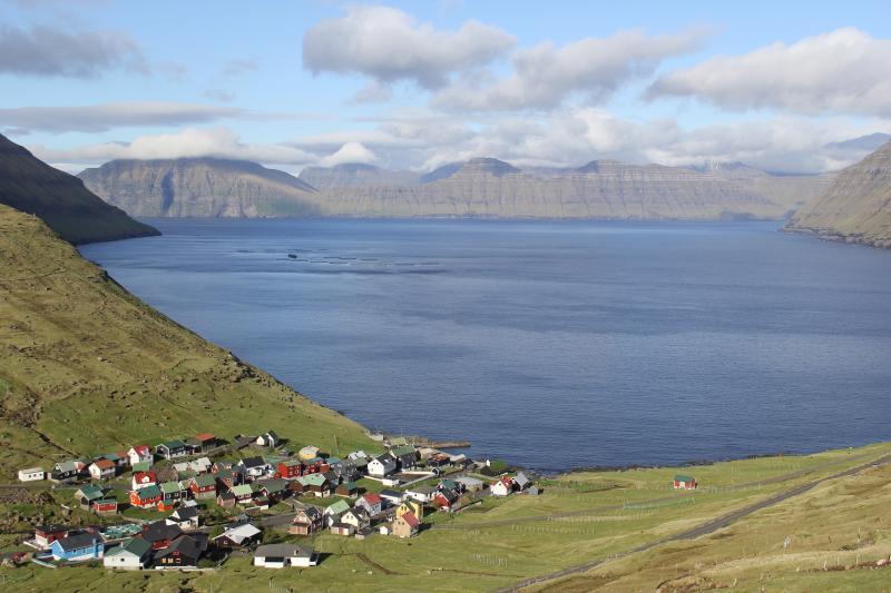 View of Funningur village