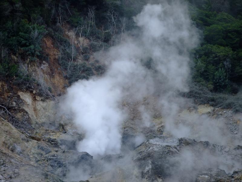 Manantiales de azufre del volcán