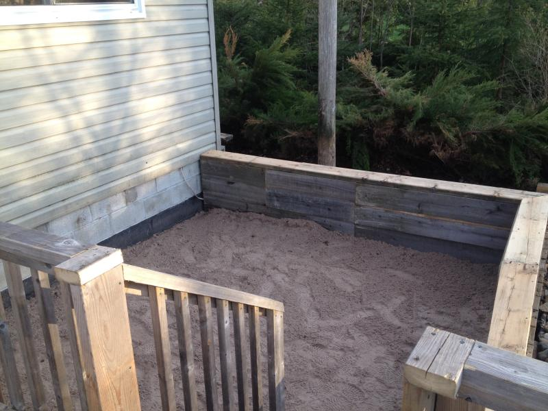 Sand Box area for children - right off deck